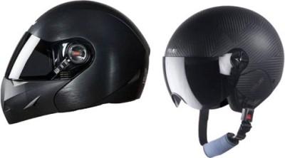 Steelbird 2 AWARD DASHING Motorbike And Dashing Motorbike combo Helmet Motorbike Helmet(Black)