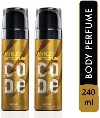 Wild Stone GOLD Body Spray Deodorant Spray  -  For Men (240 ml, Pack of 2)