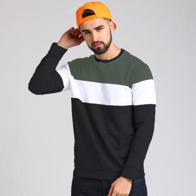 SKITTZZ Full Sleeve Color Block Men Sweatshirt