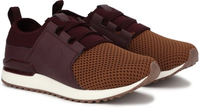 United Colors of Benetton Sneakers For Men(Maroon)