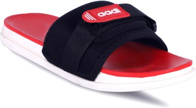 Aadi Men's Red Synthetic Leather Daily Casual Slippers