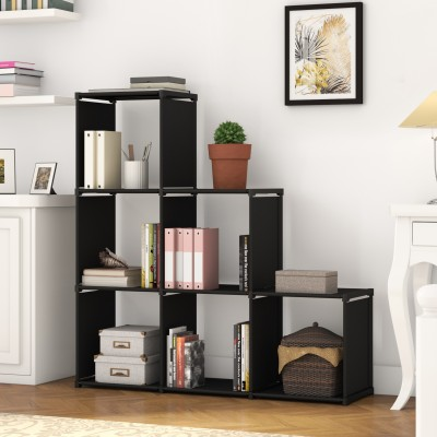 Flipkart Perfect Homes Studio Fabric Open Book Shelf(Finish Color - Black)