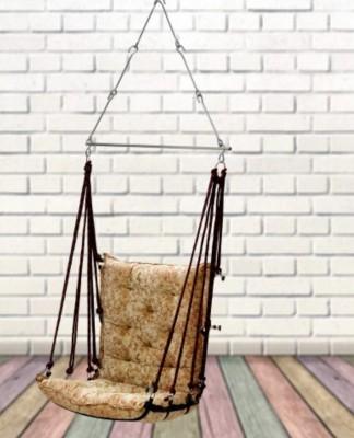 Swingzy Soft Velvet Hanging Swing Chair Cotton Large Swing(Beige)