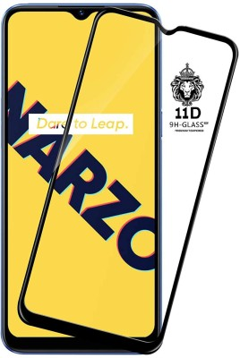 CRodible Edge To Edge Tempered Glass for Realme Narzo 10A(Pack of 1)