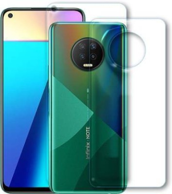 FIRST IMPRESSION Front and Back Tempered Glass for Infinix Note 7(Pack of 2)