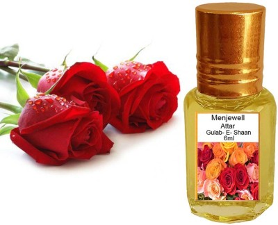 Menjewell Fragrances Gulab -E- Shaan (Natural Itra/Attar) Perfume) Floral Attar(Rose)