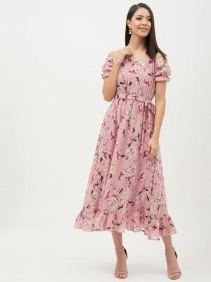 HARPA Women A-line Pink Dress