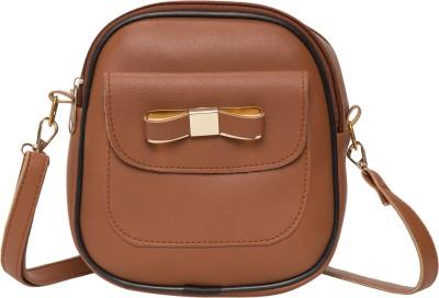 Vooy Brown Shoulder Bag Vooy Sling Bags