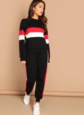 Crease & Clips Self Design Women Track Suit