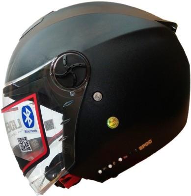 GLIDER City Bluetooth Helmet Motorbike Helmet(Black)