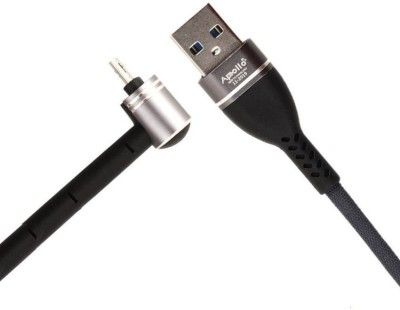 Apollo Plus Micro Usb Premium Quality High Speed Fast Charging Data Cable, Charge & Sync 3.1-Amp 1.2 m Micro USB Cable(Compatible with For Mi, REDMI, VIVO, OPPO, SAMSUNG, REALME,, Black, One Cable)
