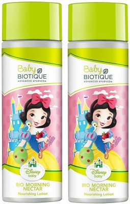 Biotique Pack of 2 Bio Disney Baby Princess Morning Nectar Baby Nourishing Lotion 190ml ( For All skin Types )(380...