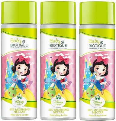 Biotique Pack of 3 Bio Disney Baby Princess Morning Nectar Baby Nourishing Lotion 190ml ( For All skin Types )(570...