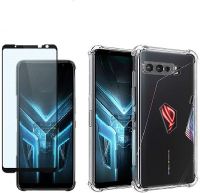 Cover Alive Edge To Edge Tempered Glass for Asus Rog Phone 3(Pack of 2)