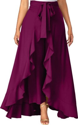 Shree Ramkrishna Fab Solid Women Flared Purple Skirt