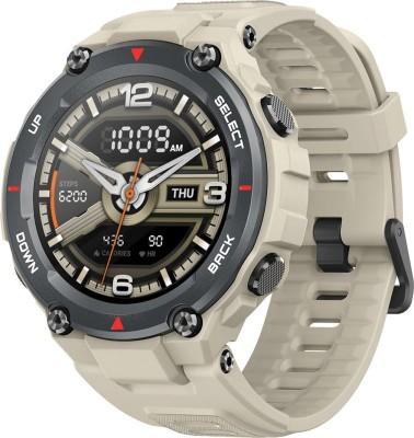 huami Amazfit T-Rex Smartwatch(Beige Strap, Regular)