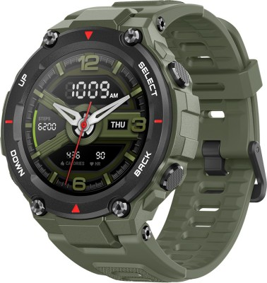 huami Amazfit T-Rex Smartwatch(Green Strap, Regular)