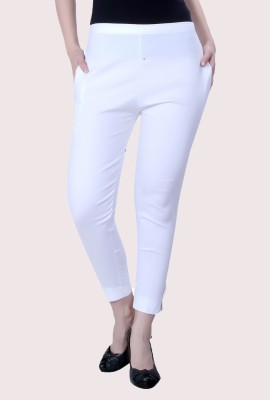 V-Girl Skinny Fit Women White Trousers