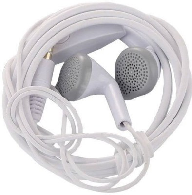 SULFUR Top notch quality compatible for S7,J2,A30,M10,M20,red.mi.vi.vo Wired Headset(White, In the Ear)
