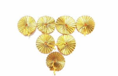 Delush Gota Patti Flowers Appliques Patches for Embroidery Decoration and Craft Making(Gold Color, 50 Pieces)
