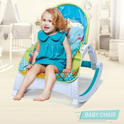 Webby Fiddle Diddle Baby Bouncer Cum Rocker Rocker and Bouncer(Multicolor)