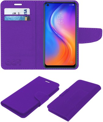 ACM Flip Cover for Tecno Spark 5 Pro(Purple, Cases with Holder)