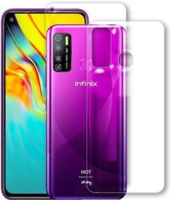 FIRST IMPRESSION Front and Back Tempered Glass for Infinix Hot 9 Pro(Pack of 2)