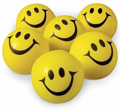 anjanaware Smiley Face Squeeze Stress Ball   Set of 3  Yellow    3 inch Yellow anjanaware Soft Toys