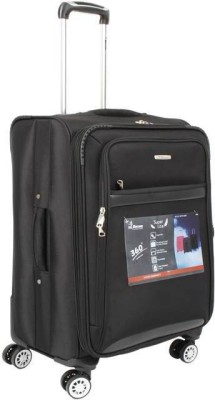 Encore Luggage ENCORE 4 WHEEL SPINNER 20INCH BLACK Expandable Check in Luggage   24 inch