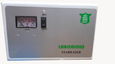 LABORIOUS VOLTAGE STABILIZER 4 KVA VOLTAGE STABILIZER  100% COPPER  FOR 1.5 TON AC White