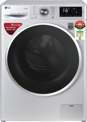 LG 6.5 kg 5 Star Fully Automatic Front Load with In-built Heater Silver(FHT1265ZNL.ALSQEIL)
