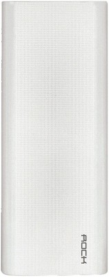Rock 13000 mAh Power Bank  Fast Charging    White, Lithium ion