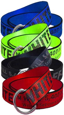 Sulit Men & Women Blue, Green, Black, Red Canvas Belt