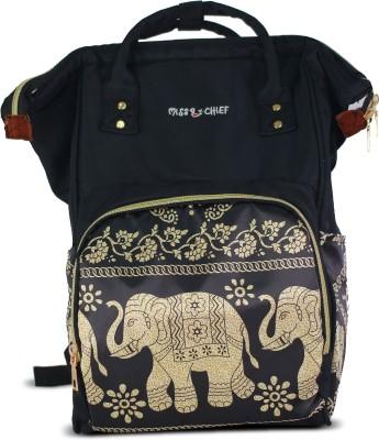 Miss & Chief Super Parent Backpack Diaper Bag(Black, Beige)