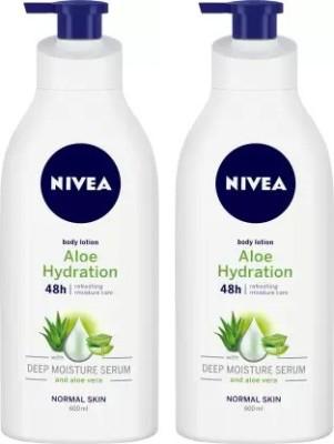 NIVEA Body Lotion, Aloe Hydration(1.2 L)