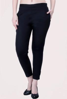 V-Girl Slim Fit Women Black Trousers