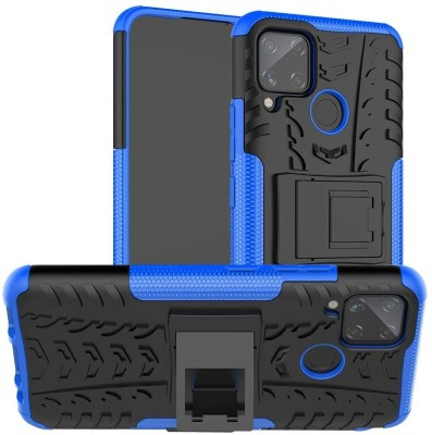 Cover Alive Back Cover for Realme C12, Realme C11, Realme C15, Plain, Case, Realme Narzo 20(Blue, Shock Proof)
