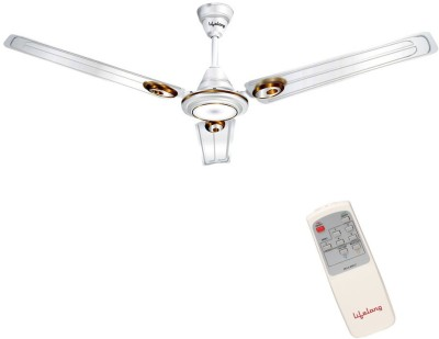 Lifelong LLCF502 1200 mm Remote Controlled 3 Blade Ceiling Fan (White, Pack of 1)