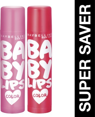 MAYBELLINE NEW YORK Baby Lips Pink Lolita & Baby Lips Cherry Kiss Pink Lolita & Cherry Kiss(Pack of: 2, 31.2 g)