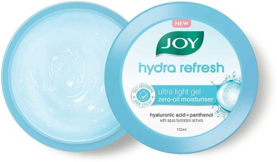 Joy Hydra Refresh Ultra Light Gel Zero-Oil | Moisturizer Cream | Hyaluronic Acid + Panthenol | With Aqua Hydration Actives...