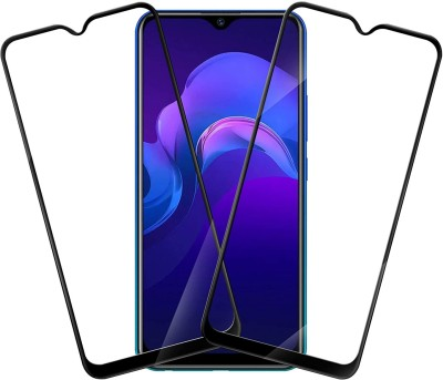 worldvery Edge To Edge Tempered Glass for Vivo Y15(Pack of 2)
