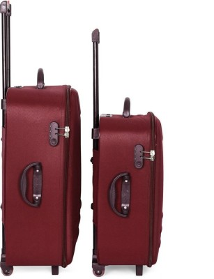 LeeRooy SND TRO1MAROON Expandable  Check in Luggage   25 inch