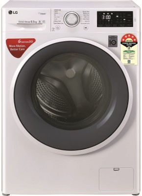 LG 6.5 kg 5 Star Fully Automatic Front Load with In-built Heater White(FHT1265ZNW.ABWQEIL)