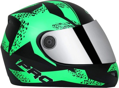 Bvcorp O2 full face helmet green graphics Motorbike Helmet(Green)