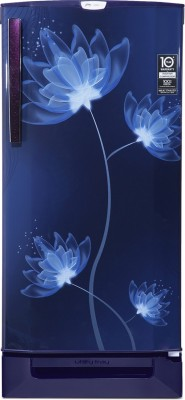 Godrej 190 L Direct Cool Single Door 4 Star Refrigerator with Base Drawer  with Intelligent Inverter Compressor(Glass Blue, RD 1904 PTDI 43 DI GL BL)