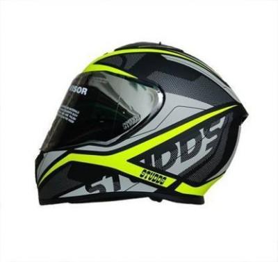 Studds THUNDER D4 MATT BLACK N5 YELLOW HELMET Motorbike Helmet(BLACK,YELLOW)