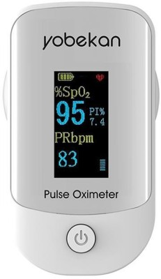 YOBEKAN Fingertip Pulse Oximeter, Blood Oxygen Saturation And Heart Rate Monitor, Portable Pulse Oximeter With OLED Display Pulse Oximeter(White)