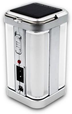 iDOLESHOP Home Solar Emergency Light 4 Side Tube with Solar Extra Bright Light Lantern Emergency Light(Silver)