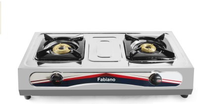 Fabiano 2 Burner Mirror Finish Stainless Steel Gas Stove : ISI Marked : Pan India Service Available At Your Door...