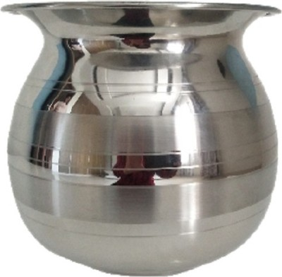 Steelshine Online Stainless steel 3500ml Big lota/kalash/chambu/Steel vessel with mirror finish and silver touch Stainless Steel Kalash(Silver)